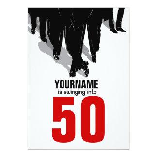 de 50ste Partij van het Pak van de Rat van 12,7x17,8 Uitnodiging Kaart