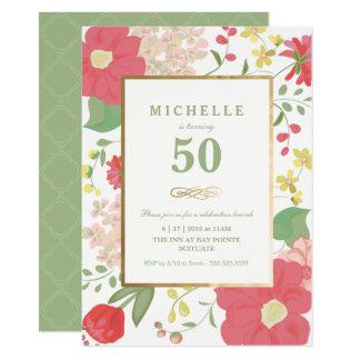 de 50ste Uitnodiging van de Verjaardag - Gouden,