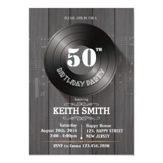 de 50ste Uitnodiging van de Verjaardag - Om het