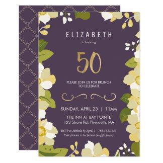 de 50ste Uitnodiging van de Verjaardag past