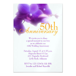 de 50ste Uitnodiging van het Jubileum van het