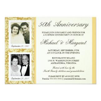 de 50ste Uitnodigingen van het Jubileum - toen &