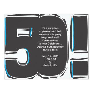 de 50ste Verjaardag nodigt uit Kaart