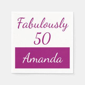 de 50ste verjaardag personaliseert fabelachtig 50 papieren servet