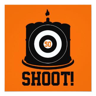 De 50ste Verjaardag van de jager - de Uitnodiging