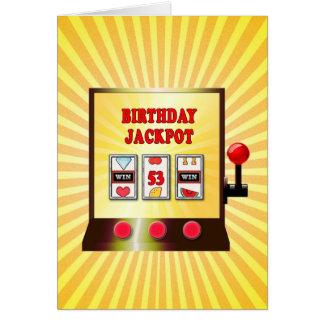 de 53ste kaart van de verjaardagsgokautomaat