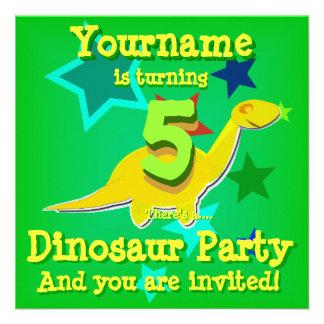 de 5de Uitnodigingen van de Partij van de Dinosaur