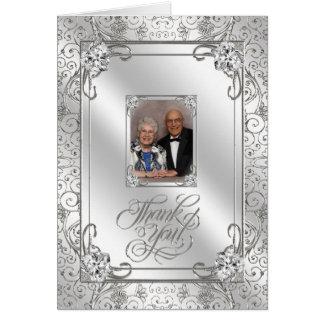 de 60ste Foto van de Verjaardag van het Huwelijk d Wenskaart