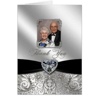 de 60ste Foto van de Verjaardag van het Huwelijk d Wenskaarten
