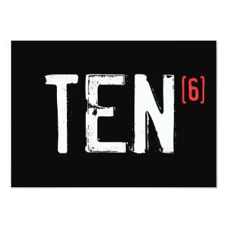de 60ste Uitnodiging van de Verjaardag - Tien aan