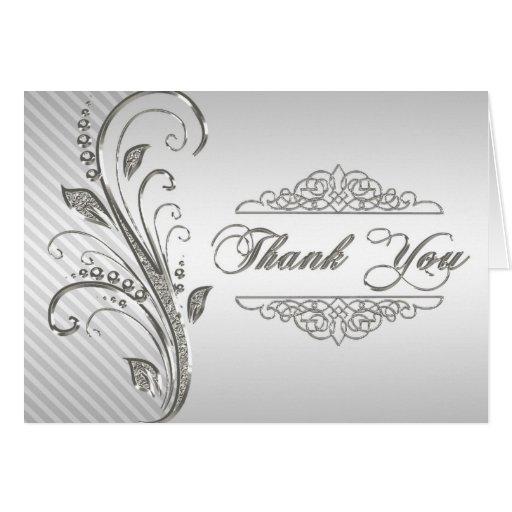 de 60ste Verjaardag van het Huwelijk dankt u nota  Wenskaart