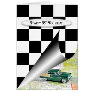 de 65ste Auto van de Verjaardag Wenskaart