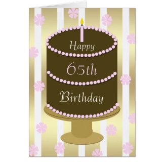 de 65ste Cake van de Kaart van de Verjaardag in Ro