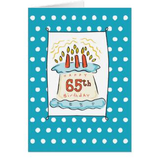 de 65ste Cake van de Verjaardag Wenskaart