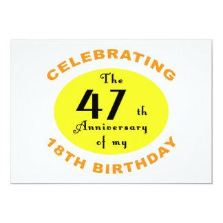 de 65ste Gift van de Prop van de Verjaardag 12,7x17,8 Uitnodiging Kaart