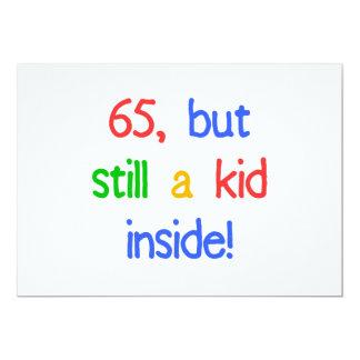 de 65ste Giften van de Prop van de Verjaardag 12,7x17,8 Uitnodiging Kaart