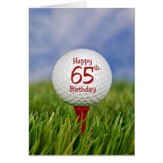 de 65ste Golfbal van de Verjaardag Wenskaart