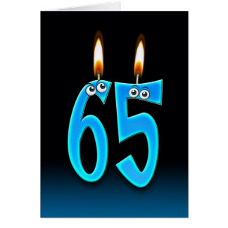 de 65ste Kaarsen van de Verjaardag Wenskaart