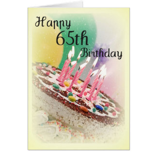 de 65ste Kaart van de Verjaardag