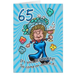 de 65ste Kaart van de Verjaardag - de Dame van de