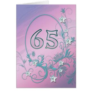 de 65ste kaart van de Verjaardag met