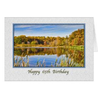 de 65ste Kaart van de Verjaardag met de Bezinninge