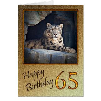 de 65ste Kaart van de Verjaardag met een