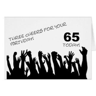 de 65ste kaart van de Verjaardag met het toejuiche
