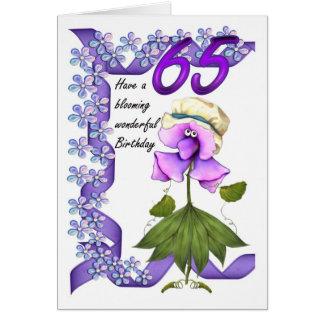 de 65ste Kaart van de Verjaardag met leuke knicker