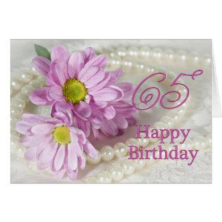 de 65ste kaart van de Verjaardag met madeliefjes