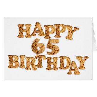 de 65ste kaart van de Verjaardag voor een