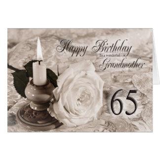 de 65ste kaart van de Verjaardag voor Grootmoeder