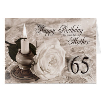 de 65ste kaart van de Verjaardag voor moeder, de