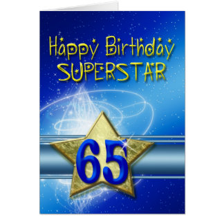 de 65ste kaart van de Verjaardag voor Superster