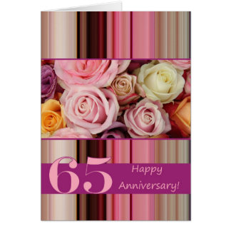 de 65ste Kaart van het Jubileum van het Huwelijk -