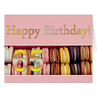de 65ste Kaart van Macaron van de Verjaardag