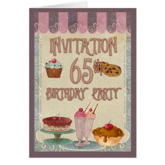 de 65ste Partij van de Verjaardag - Cakes, Wenskaart