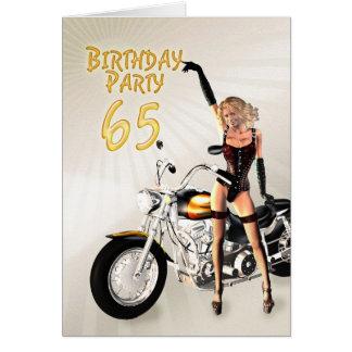 de 65ste partij van de Verjaardag met een meisje Wenskaart