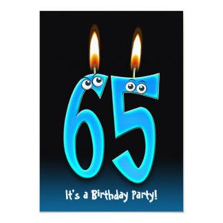 de 65ste Partij van de Verjaardag met oogappels 12,7x17,8 Uitnodiging Kaart