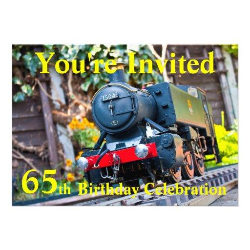 de 65ste partij van de Verjaardag nodigt uit Gepersonaliseerde Uitnodiging