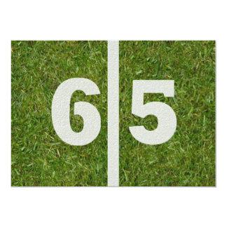 de 65ste Partij van de Verjaardag van de Werf!  12,7x17,8 Uitnodiging Kaart