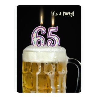 de 65ste Partij van het Bier van de Verjaardag 10,8x13,9 Uitnodiging Kaart