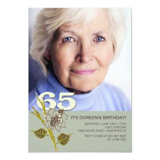 de 65ste Uitnodiging van de Foto van de Verjaardag