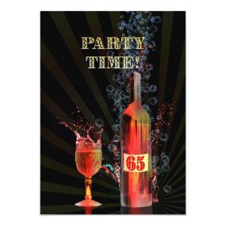de 65ste uitnodiging van de verjaardagspartij