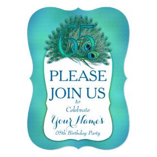 de 65ste Uitnodigingen van de Verjaardag 12,7x17,8 Uitnodiging Kaart