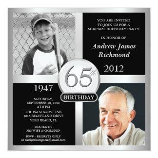 de 65ste Uitnodigingen van de Verjaardag toen & nu