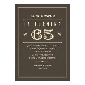 de 65ste Uitnodigingen van de Verjaardag voor Man