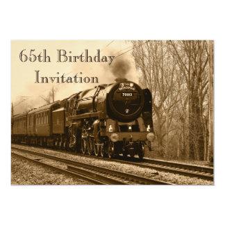 de 65ste Verjaardag nodigt uit 12,7x17,8 Uitnodiging Kaart