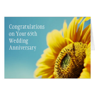 de 65ste Verjaardag van het Huwelijk/of Om het eve Wenskaarten