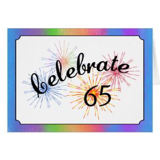 de 65ste Viering van de Verjaardag Wenskaarten